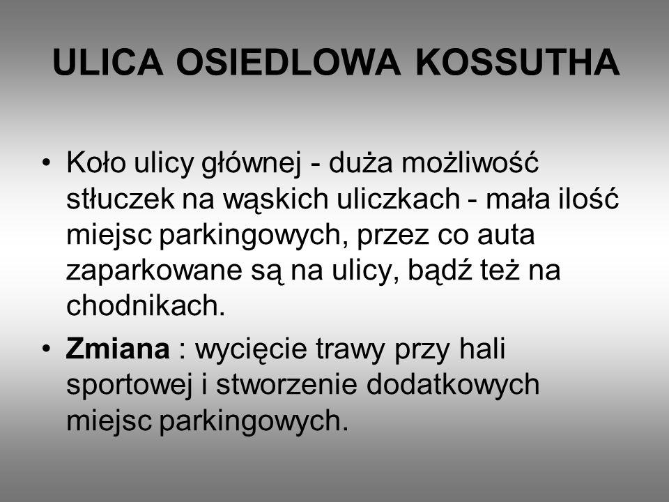 ULICA OSIEDLOWA KOSSUTHA