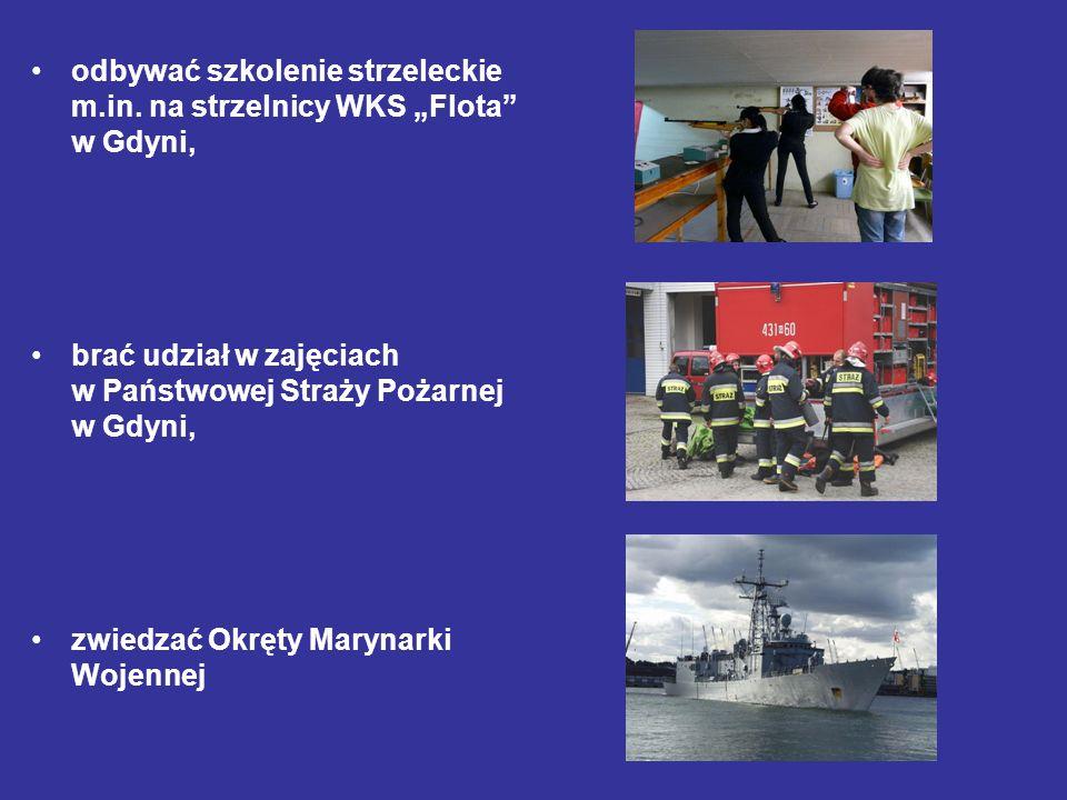 """odbywać szkolenie strzeleckie m.in. na strzelnicy WKS """"Flota w Gdyni,"""