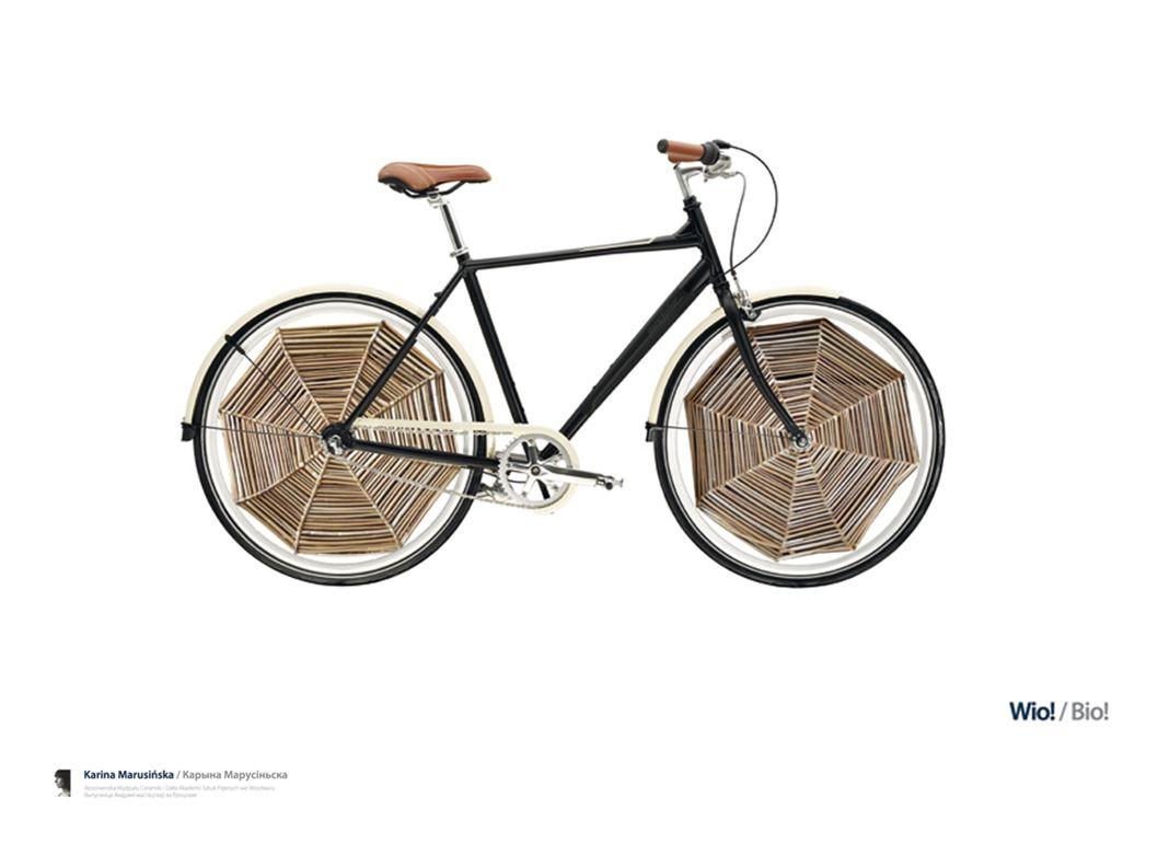 """Autorka projektu """"Wio! wykorzystała tradycyjny materiał, jakim jest wiklina oraz technikę wyplatania, aby zaprojektować ozdobę do roweru"""