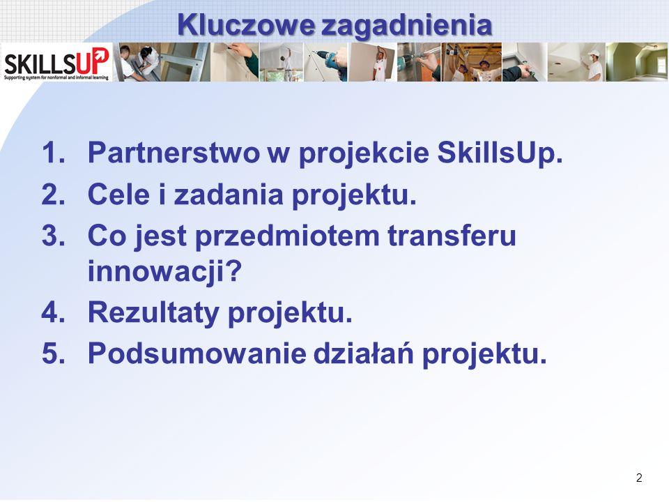 Partnerstwo w projekcie SkillsUp. Cele i zadania projektu.