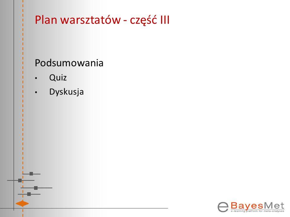 Plan warsztatów - część III