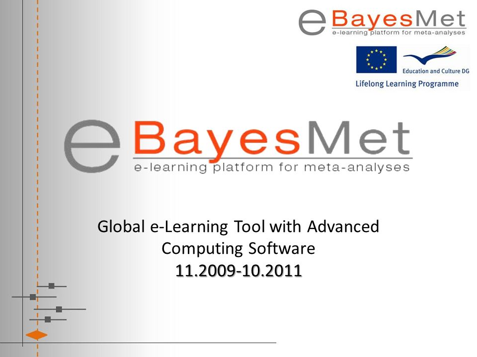 Global e-Learning Tool with Advanced Computing Software 11. 2009-10