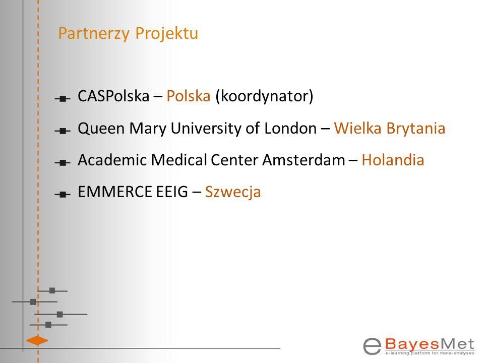 Partnerzy Projektu CASPolska – Polska (koordynator)
