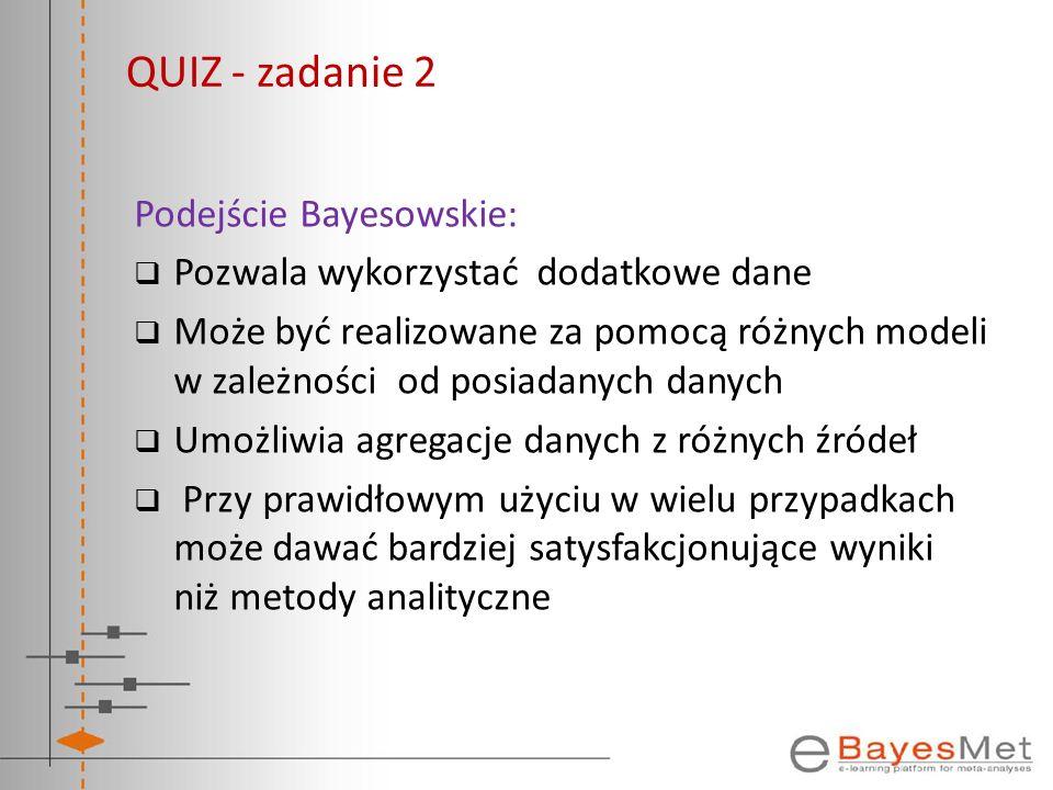 QUIZ - zadanie 2 Podejście Bayesowskie: