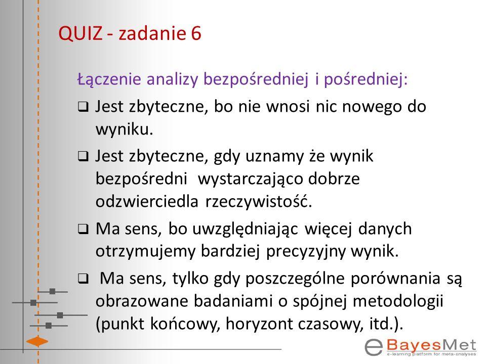 QUIZ - zadanie 6 Łączenie analizy bezpośredniej i pośredniej: