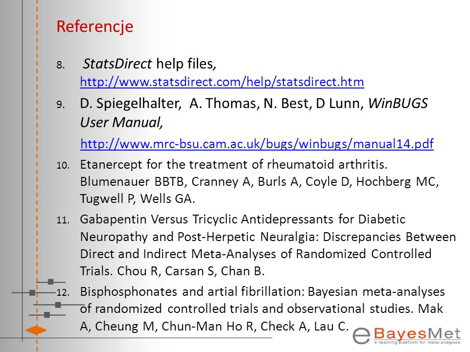 Referencje StatsDirect help files, http://www.statsdirect.com/help/statsdirect.htm.