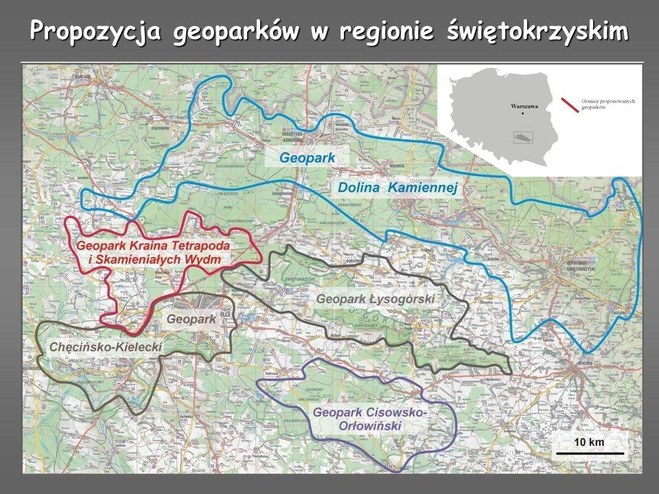 Propozycja geoparków w regionie świętokrzyskim