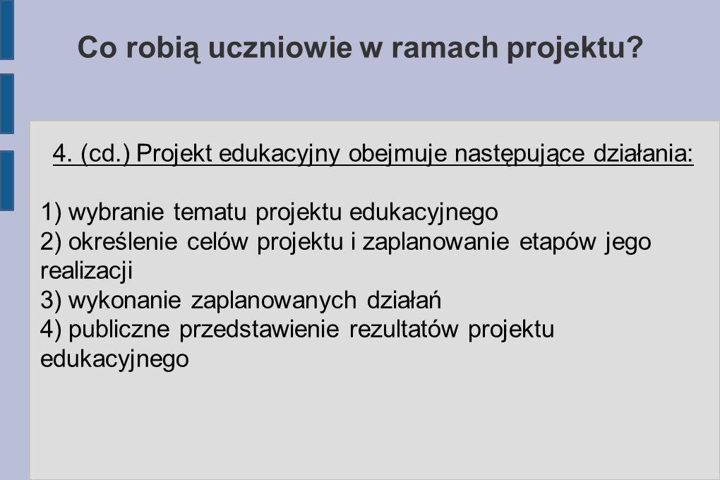 Co robią uczniowie w ramach projektu