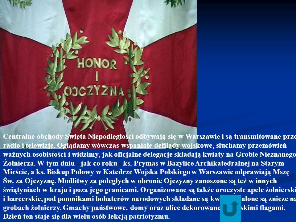Centralne obchody Święta Niepodległości odbywają się w Warszawie i są transmitowane przez radio i telewizję.