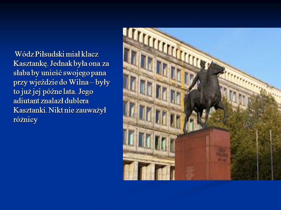 Wódz Piłsudski miał klacz Kasztankę
