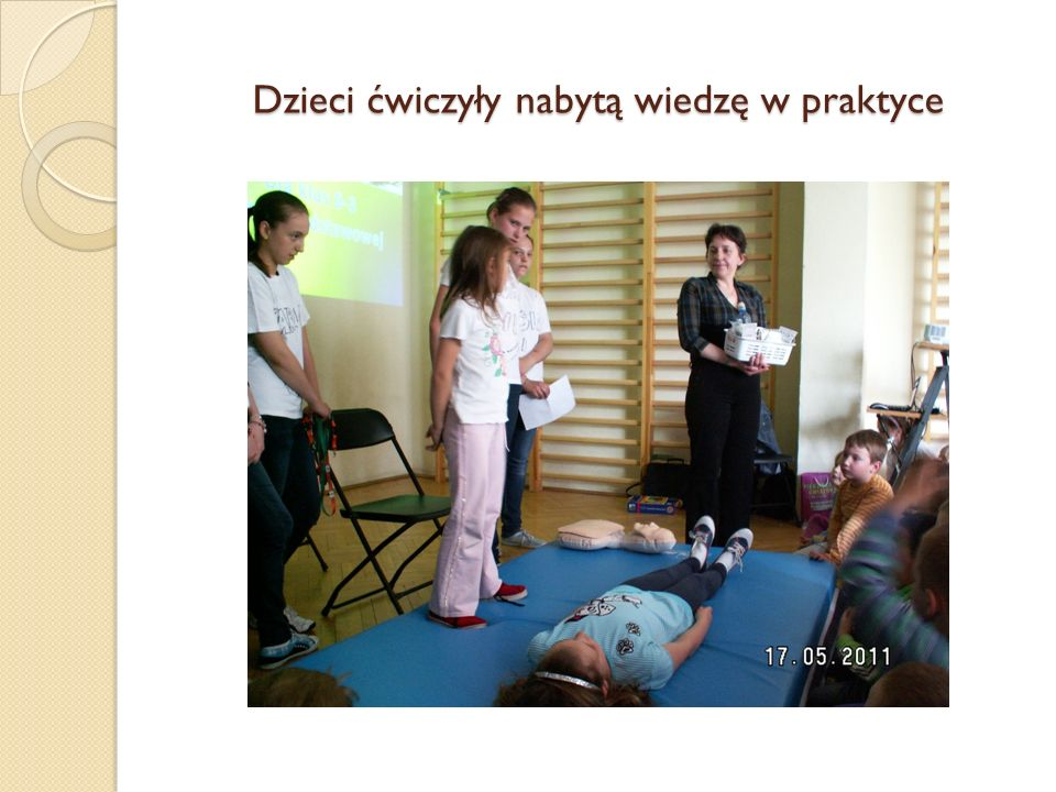 Dzieci ćwiczyły nabytą wiedzę w praktyce