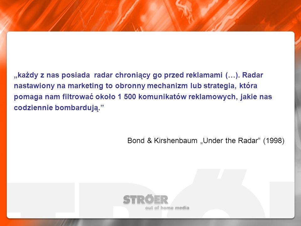 """""""każdy z nas posiada radar chroniący go przed reklamami (…)"""
