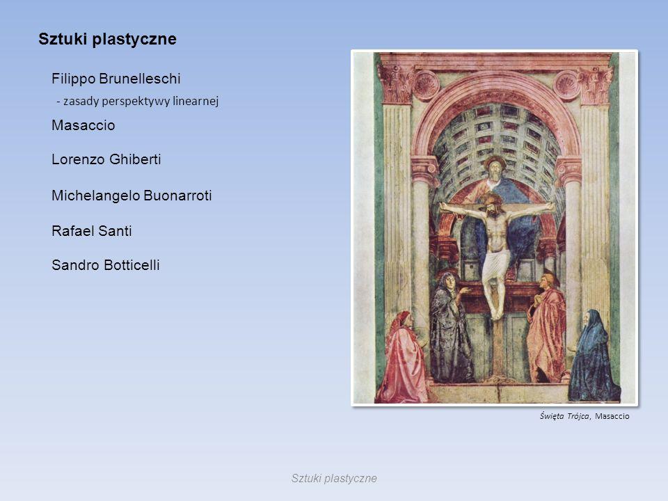 Sztuki plastyczne Filippo Brunelleschi Masaccio Lorenzo Ghiberti