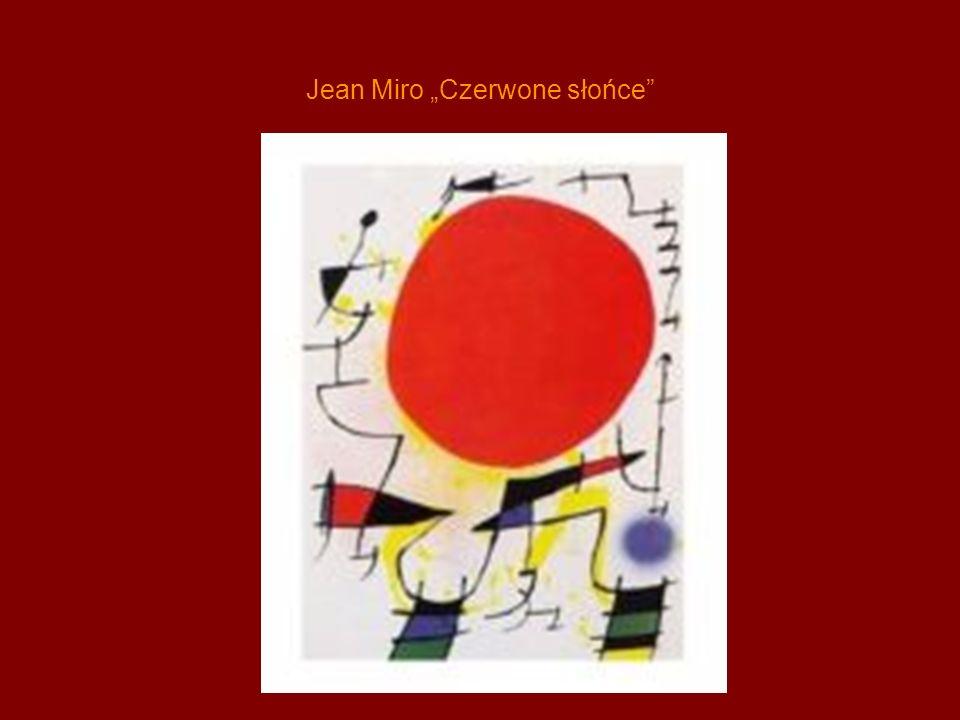 """Jean Miro """"Czerwone słońce"""