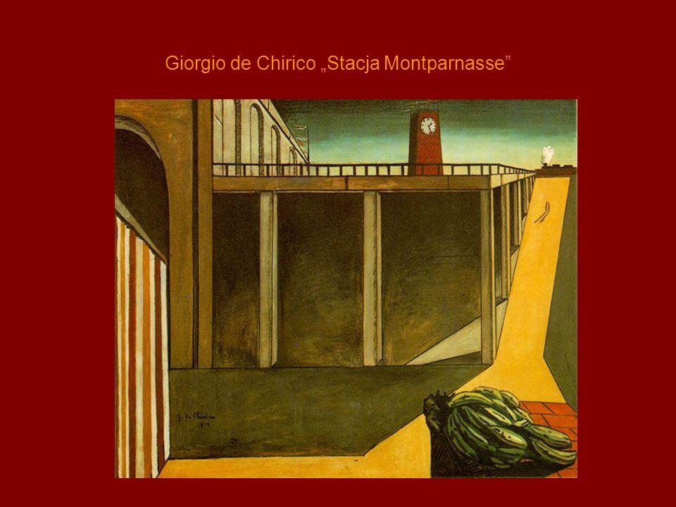 """Giorgio de Chirico """"Stacja Montparnasse"""