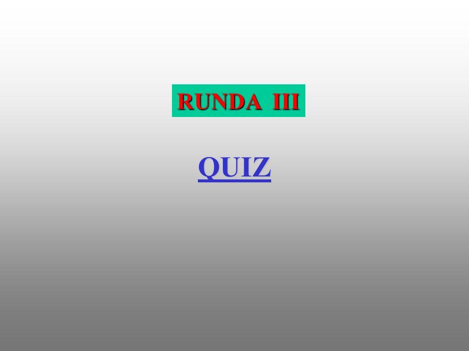 RUNDA III QUIZ