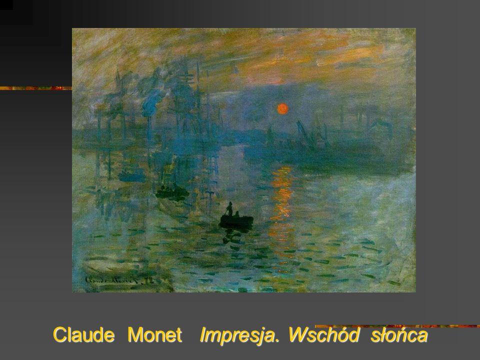 Claude Monet Impresja. Wschód słońca