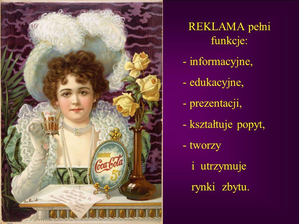 REKLAMA pełni funkcje: