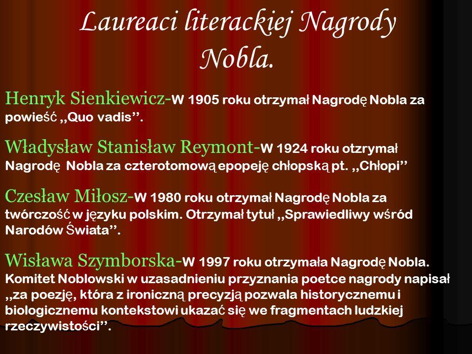 Laureaci literackiej Nagrody Nobla.