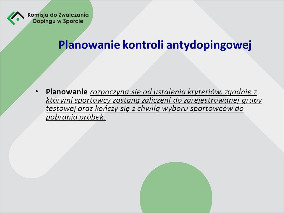 Planowanie kontroli antydopingowej