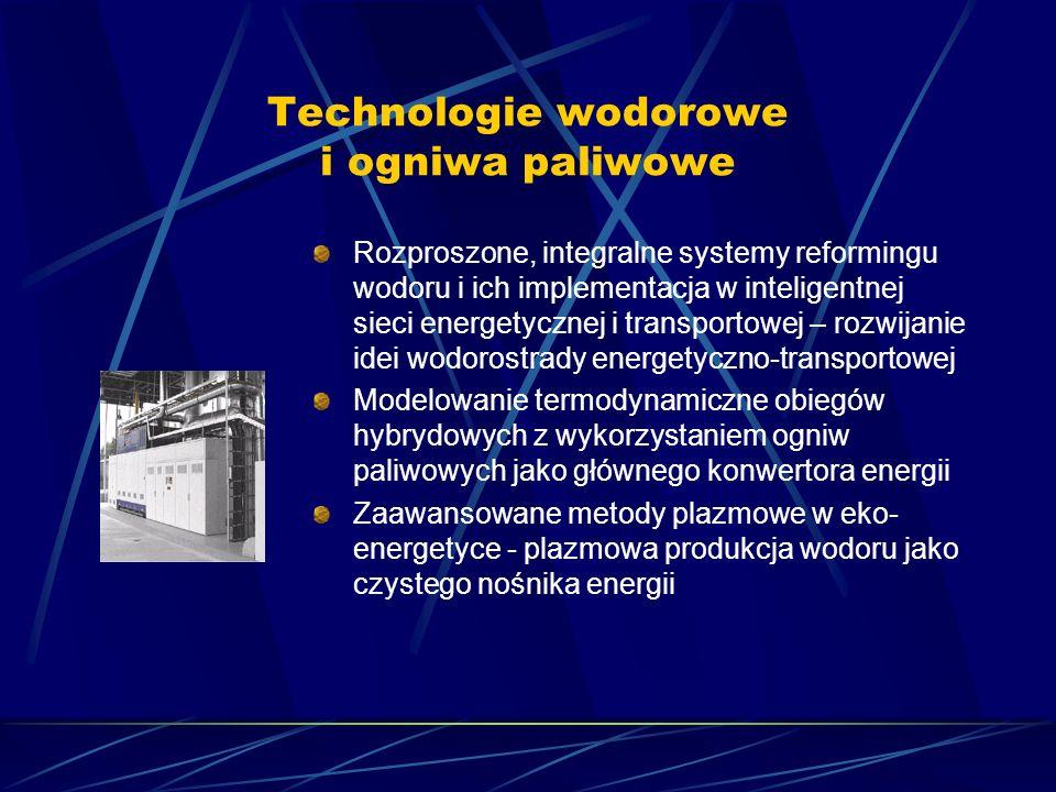 Technologie wodorowe i ogniwa paliwowe