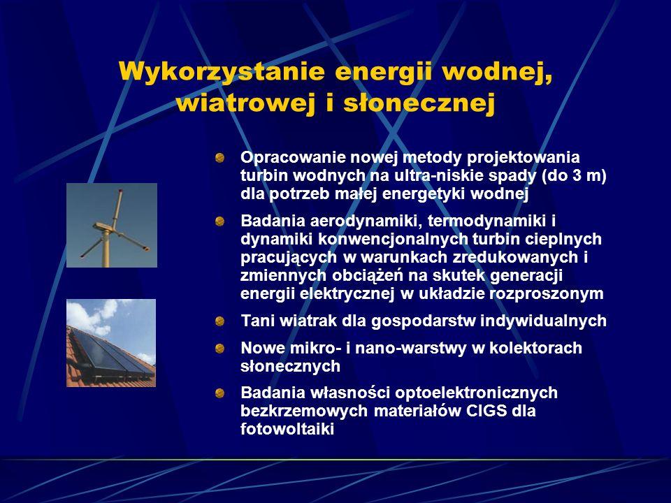 Wykorzystanie energii wodnej, wiatrowej i słonecznej