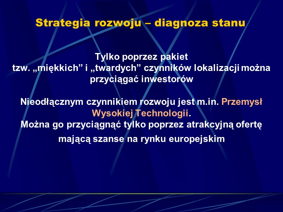 Strategia rozwoju – diagnoza stanu