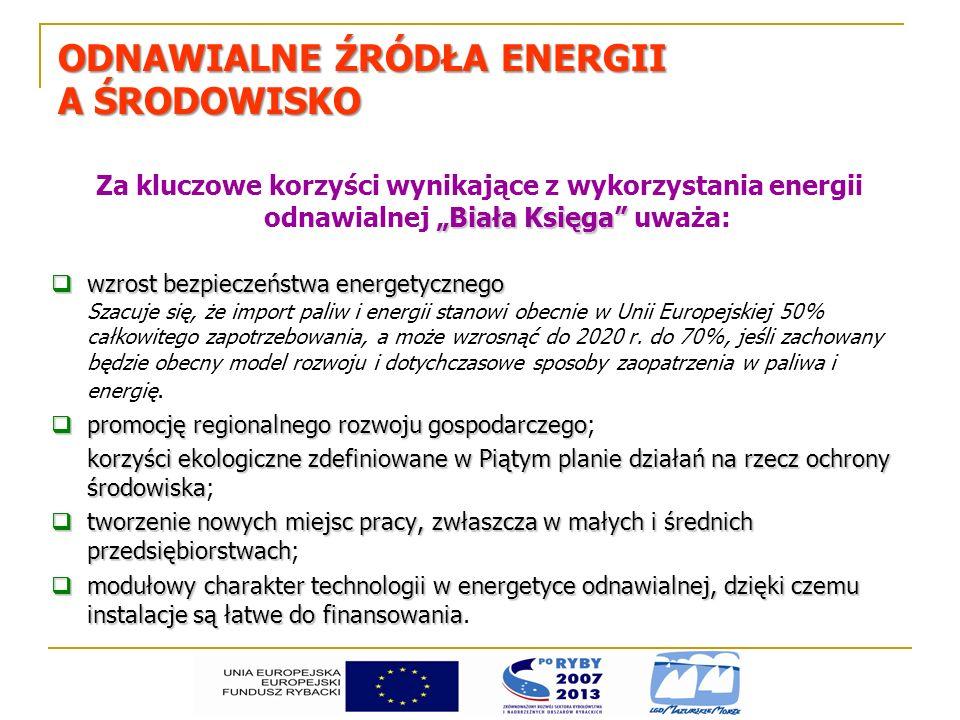 ODNAWIALNE ŹRÓDŁA ENERGII A ŚRODOWISKO