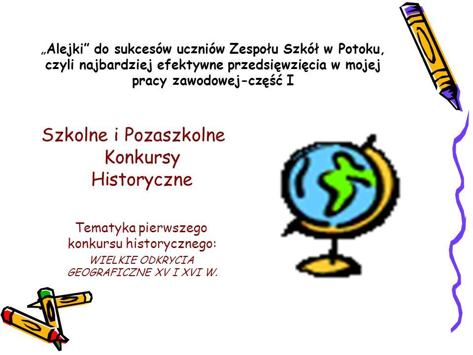 Szkolne i Pozaszkolne Konkursy Historyczne
