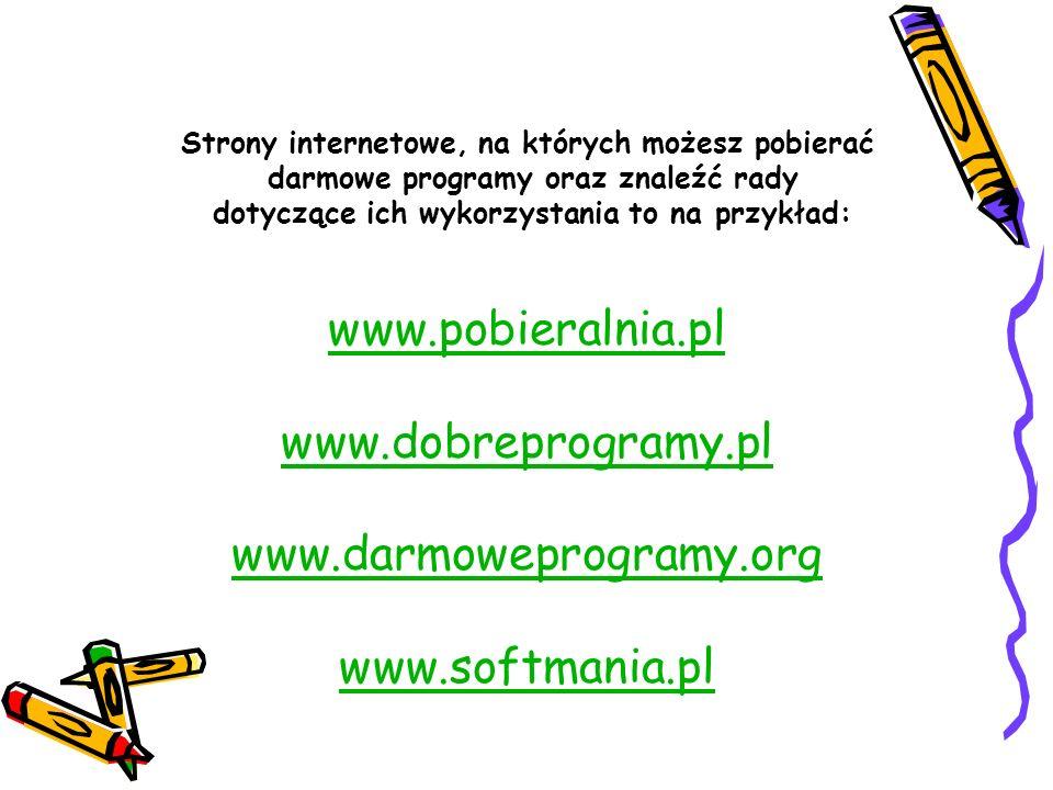 www.softmania.pl Strony internetowe, na których możesz pobierać