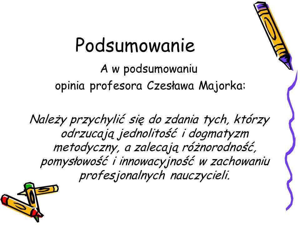 opinia profesora Czesława Majorka: