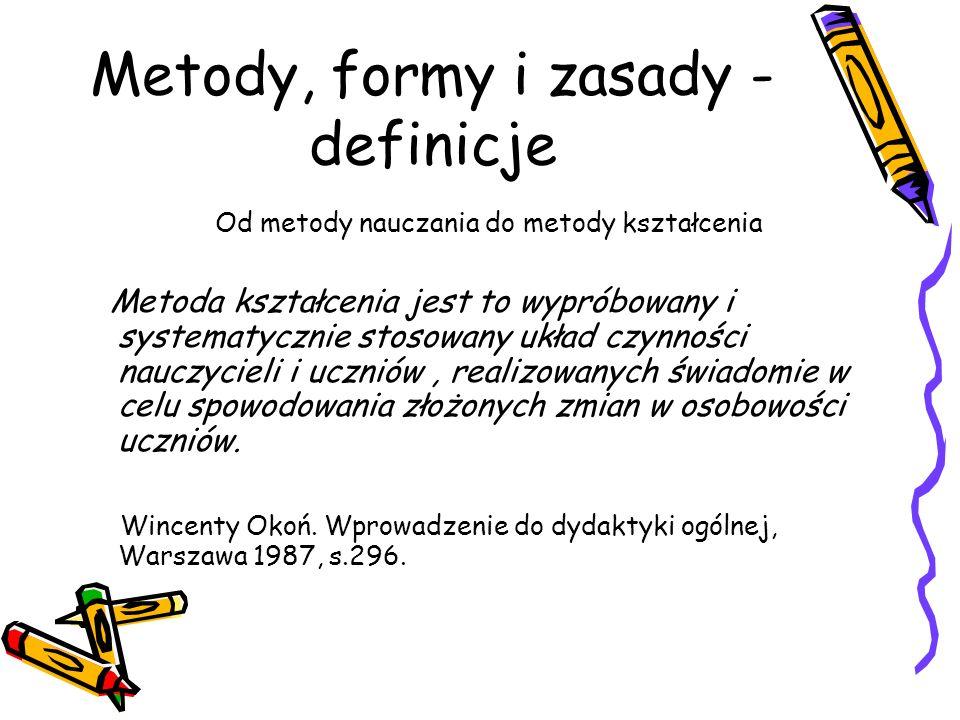 Metody, formy i zasady -definicje