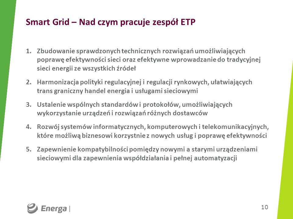 Smart Grid – Nad czym pracuje zespół ETP