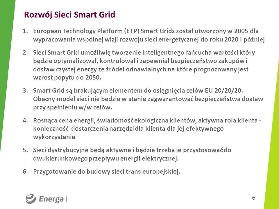 Rozwój Sieci Smart Grid