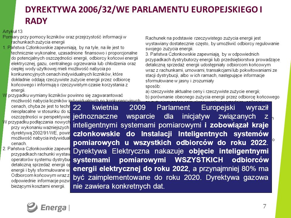 DYREKTYWA 2006/32/WE PARLAMENTU EUROPEJSKIEGO I RADY