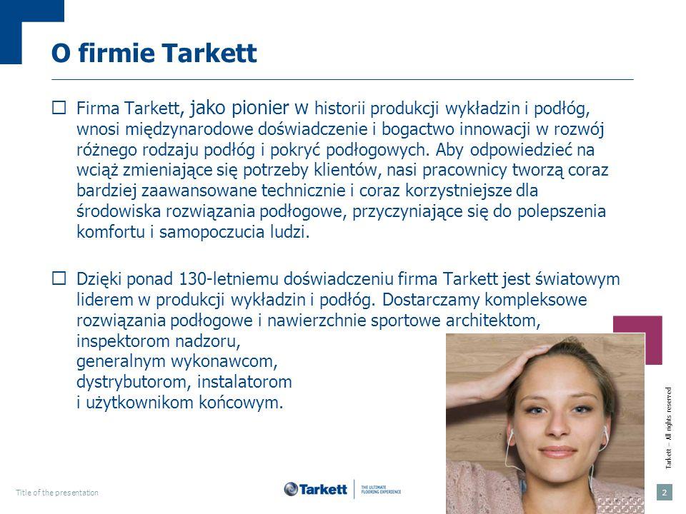 O firmie Tarkett