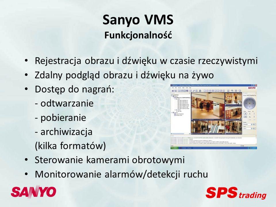 Sanyo VMS Funkcjonalność