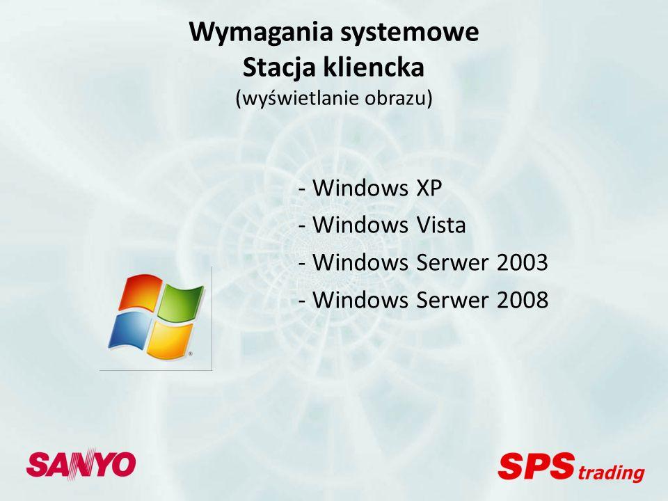 Wymagania systemowe Stacja kliencka (wyświetlanie obrazu)