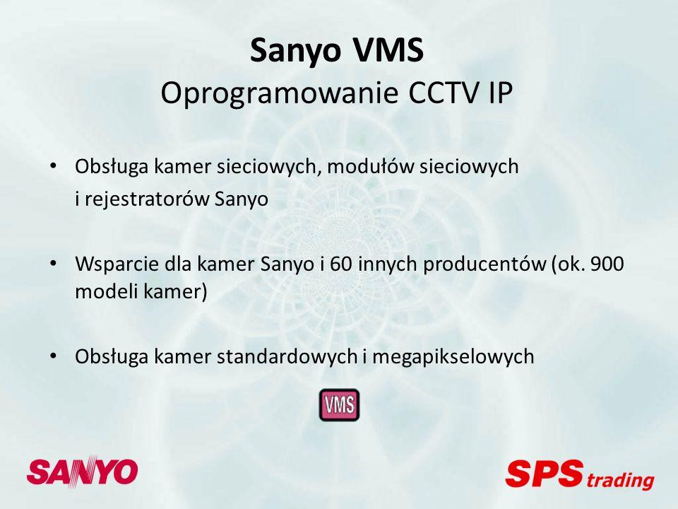 Sanyo VMS Oprogramowanie CCTV IP