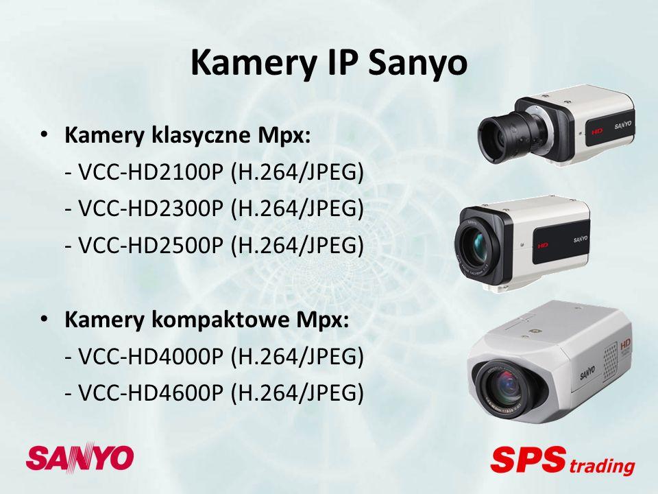 Kamery IP Sanyo Kamery klasyczne Mpx: - VCC-HD2100P (H.264/JPEG)