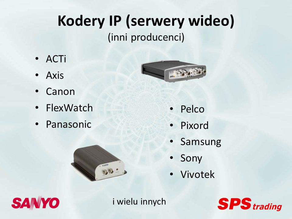 Kodery IP (serwery wideo) (inni producenci)