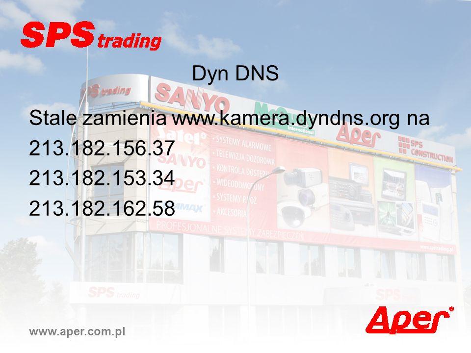 Stale zamienia www.kamera.dyndns.org na 213.182.156.37 213.182.153.34