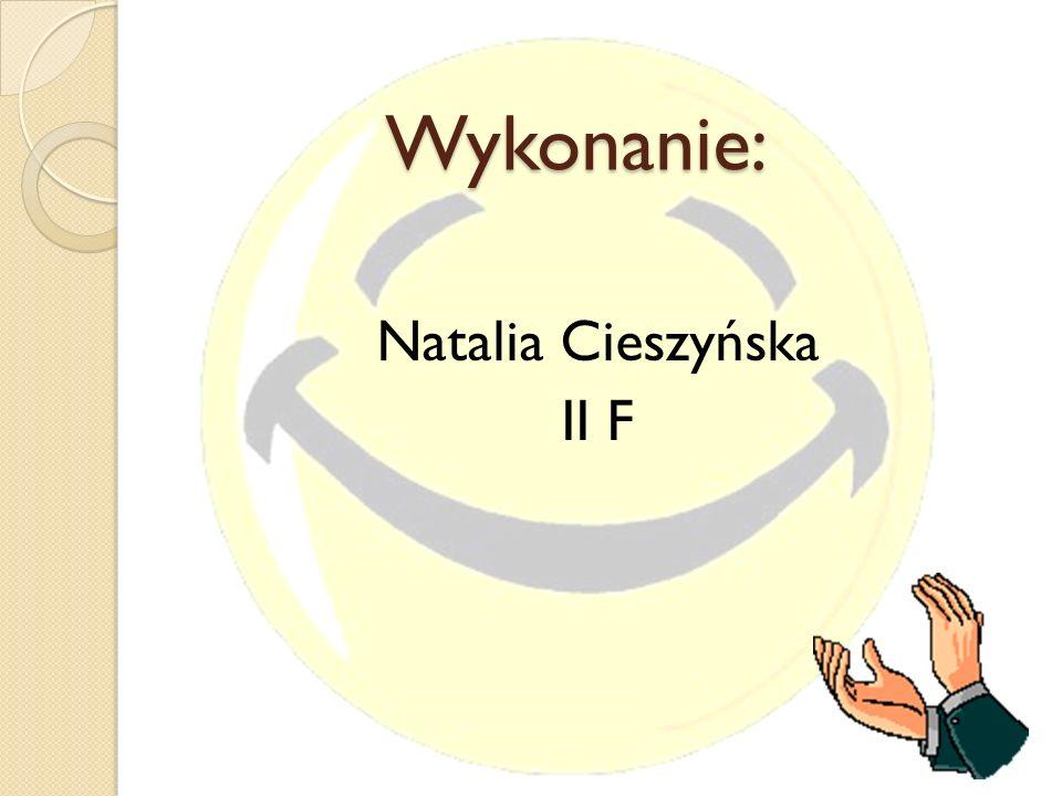 Natalia Cieszyńska II F