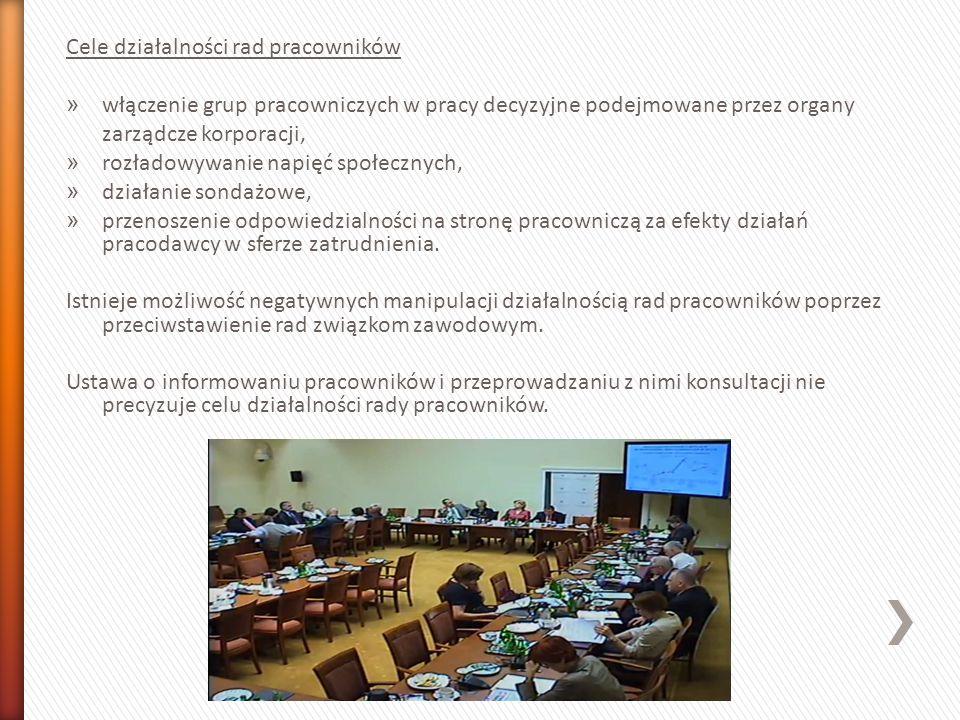 Cele działalności rad pracowników