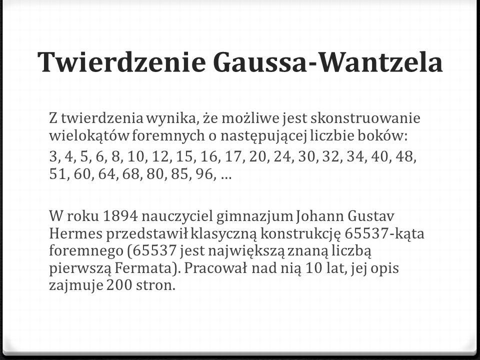 Twierdzenie Gaussa-Wantzela