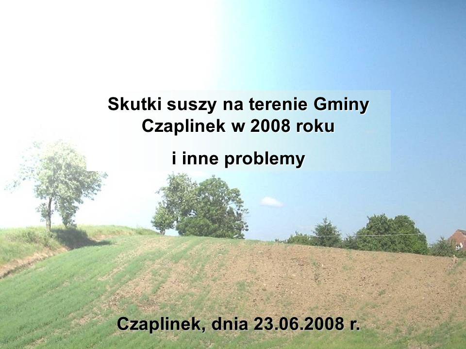 Skutki suszy na terenie Gminy Czaplinek w 2008 roku