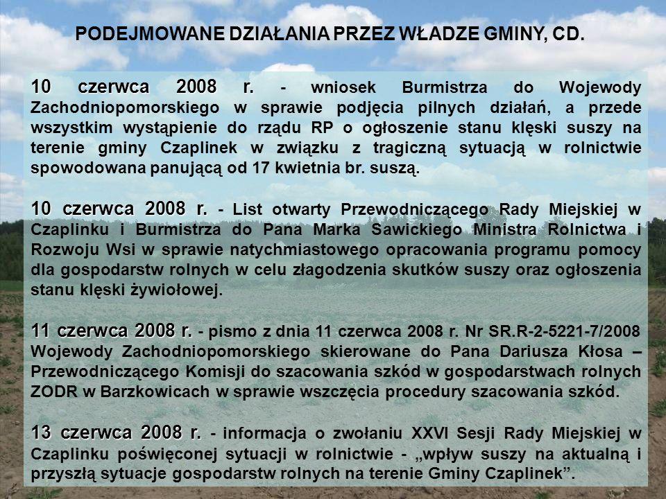 PODEJMOWANE DZIAŁANIA PRZEZ WŁADZE GMINY, CD.