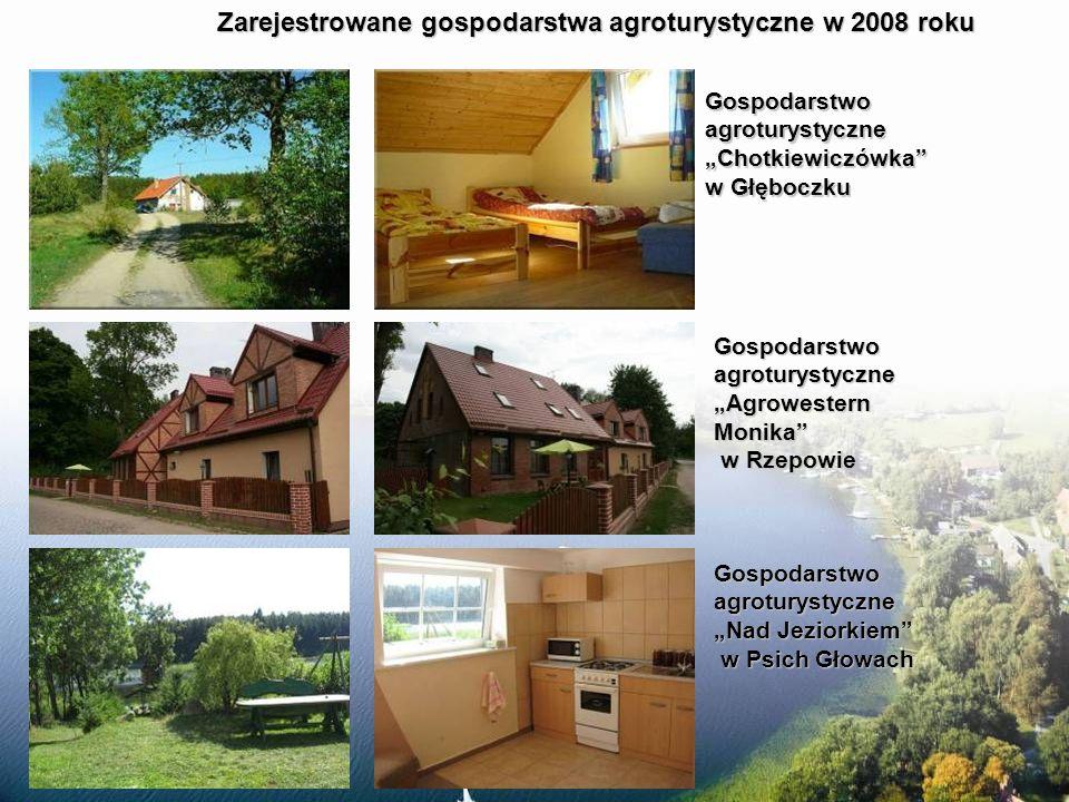 Zarejestrowane gospodarstwa agroturystyczne w 2008 roku