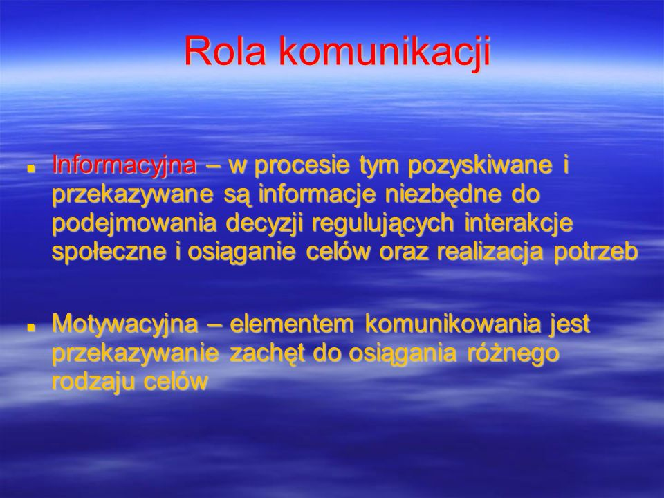 Rola komunikacji