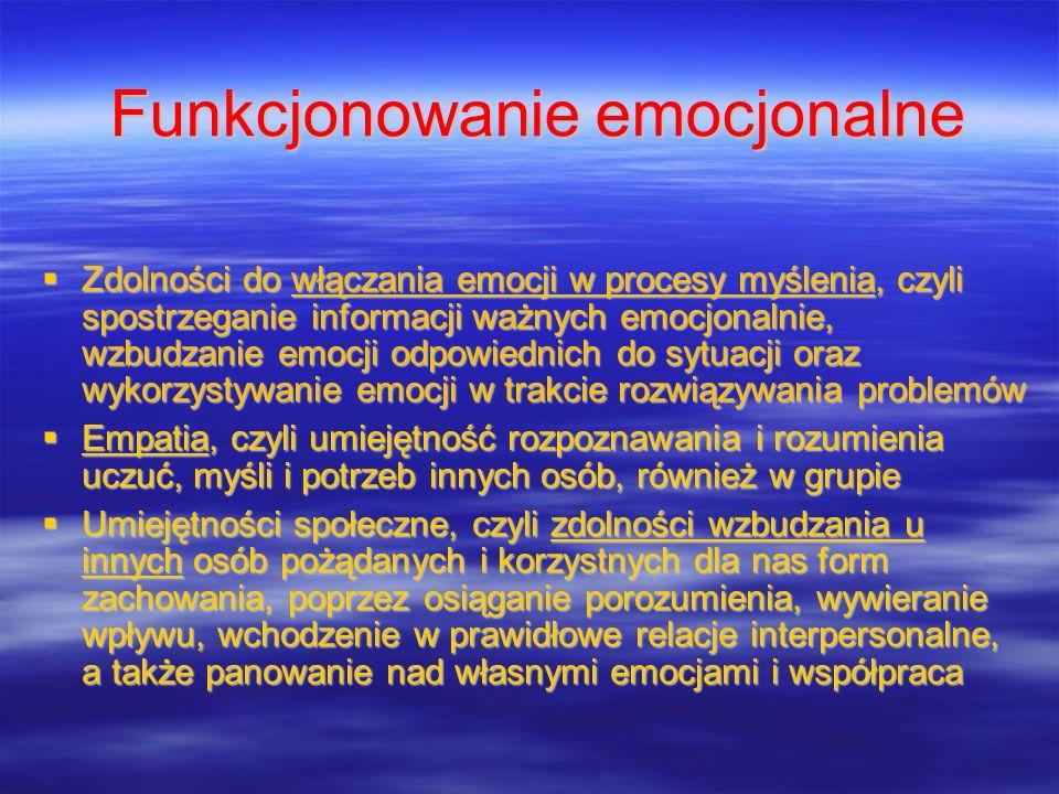 Funkcjonowanie emocjonalne